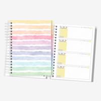 Planner Colorido | Não Datado | Layout Horizontal