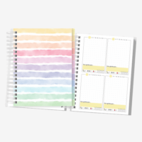 Planner Colorido | Não Datado | Layout Quadrado