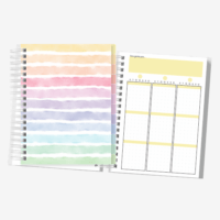 Planner Colorido | Não Datado | Layout Vertical